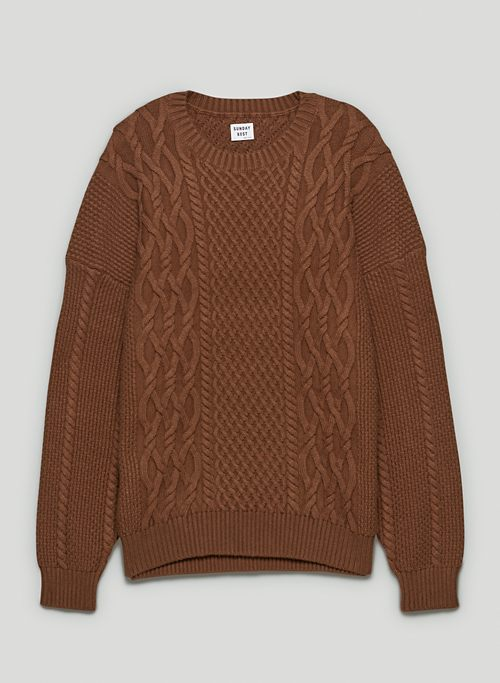 PEGGY SWEATER - Chunky, cable-knit sweater
