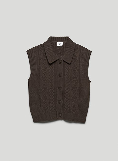 FLYNN VEST - Button-down, collared sweater vest