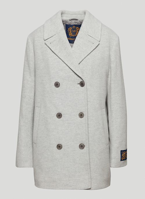 HUTTON COAT - Mid-length, double-breasted wool-cashmere coat