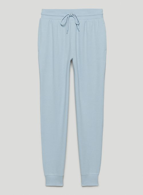 BABY WAFFLE JOGGER - High-waisted thermal joggers
