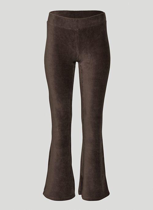 OTIS PANT - Mid-rise, flared, ribbed velour pants