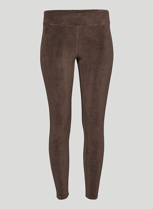 RHODES LEGGING - High-waisted velour leggings