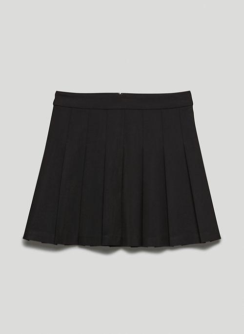 """OLIVE MINI 15"""" SKIRT - Pleated mini skirt"""