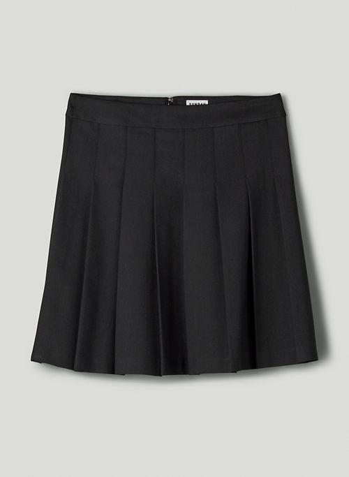 "OLIVE MINI 17"" SKIRT - High-waisted, pleated skirt"