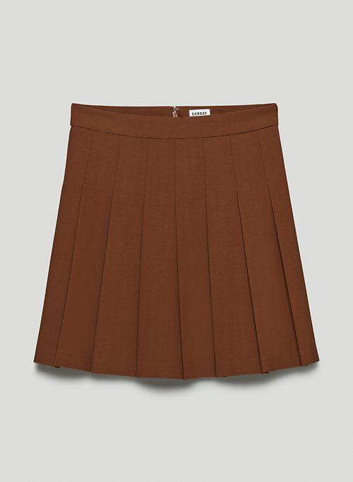 """OLIVE MINI 17"""" SKIRT - High-waisted, pleated mini skirt"""