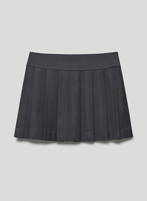 JAMESON SKIRT - Mid-rise pleated mini wrap skirt