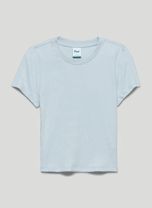 RIBBED T-SHIRT - Shrunken, ribbed t-shirt