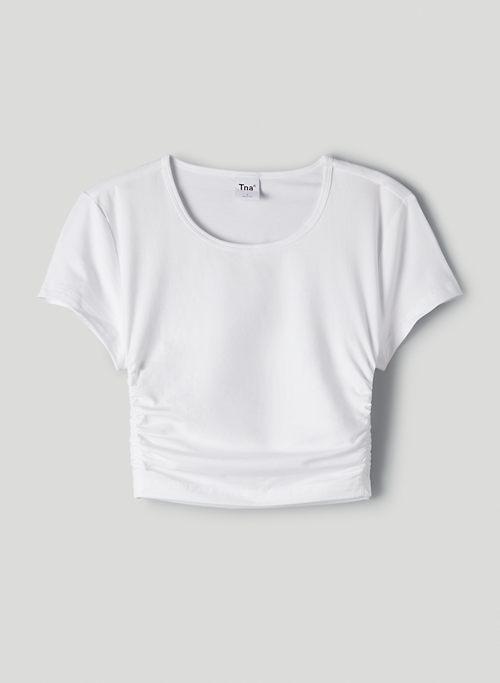 MALIBU T-SHIRT - Ruched, cropped t-shirt