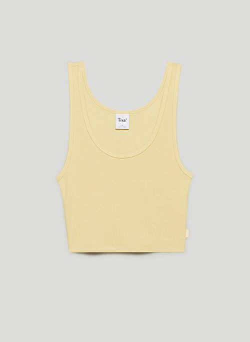 RIBBED CROPPED TANK - Cropped, ribbed tank top