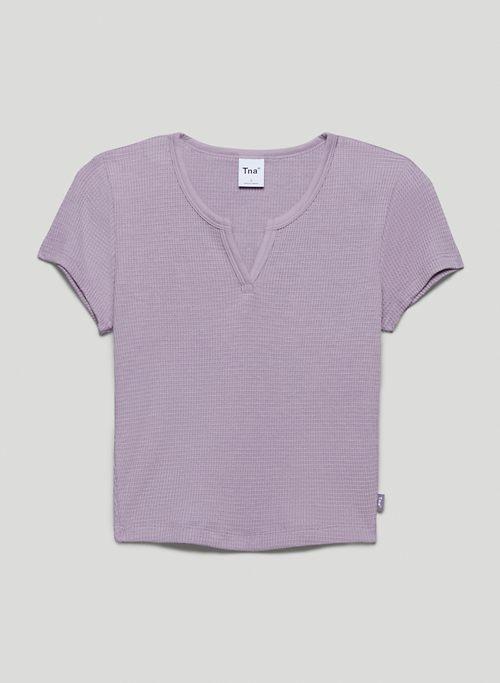 WAFFLE NOTCH T-SHIRT - Notched thermal t-shirt