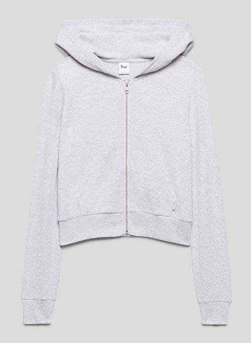 THERMAL ZIP HOODIE - Thermal zip-up hoodie