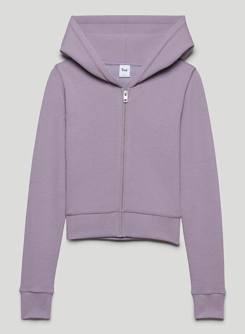 SENECA ZIP-UP - Shrunken thermal zip-up hoodie