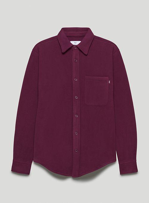 POLAR BUTTON-UP - Recycled micro fleece button-up shirt