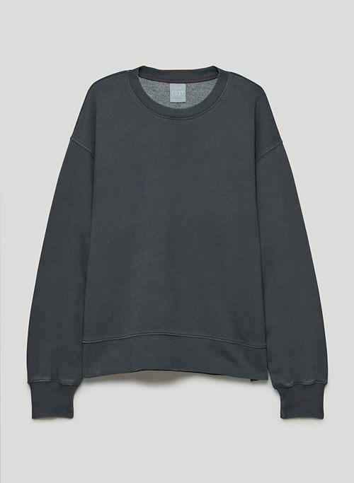 COZY FLEECE BOYFRIEND CREW SWEATSHIRT - Oversized, crew-neck sweatshirt