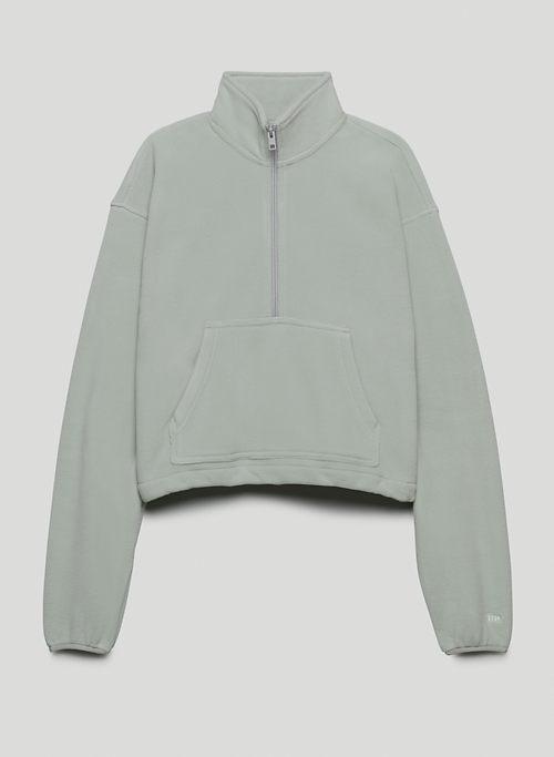 POLAR ½ ZIP SWEATER - Fleece mock-neck sweater