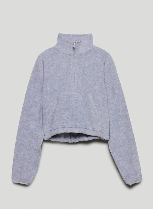 POLAR ½ ZIP SWEATER - Fleece mock-neck sweatshirt