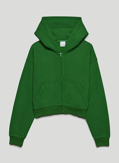COZY FLEECE BOYFRIEND BOXY ZIP-UP HOODIE - Boxy zip-up hoodie