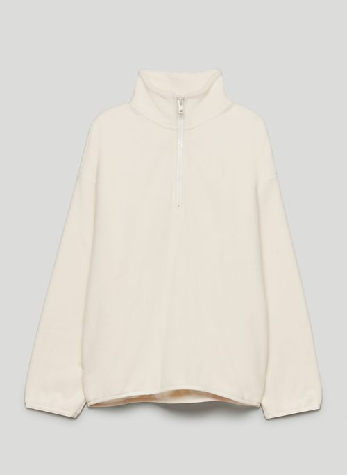 POLAR 1/4 ZIP SWEATER - Recycled fleece pullover sweater