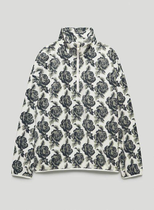 POLAR 1/4 ZIP SWEATER - Printed micro fleece sweater