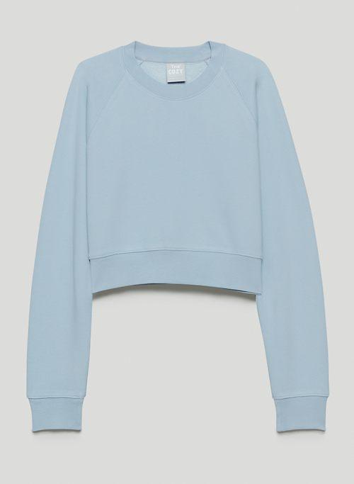 COZY FLEECE PERFECT RAGLAN SWEATSHIRT - Shrunken crew-neck sweatshirt
