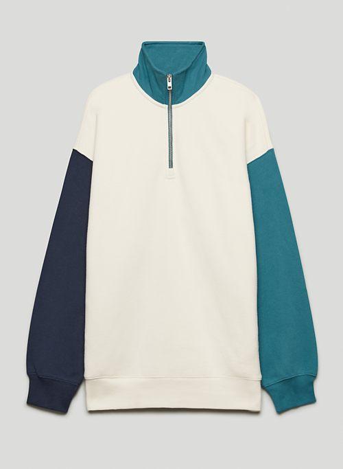 COZY FLEECE MEGA ¼ ZIP SWEATSHIRT - Oversized 1/4 zip sweater