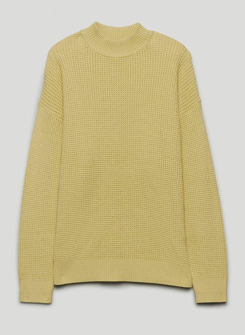 VALDEZ SWEATSHIRT - Mock-neck, waffle-knit sweater