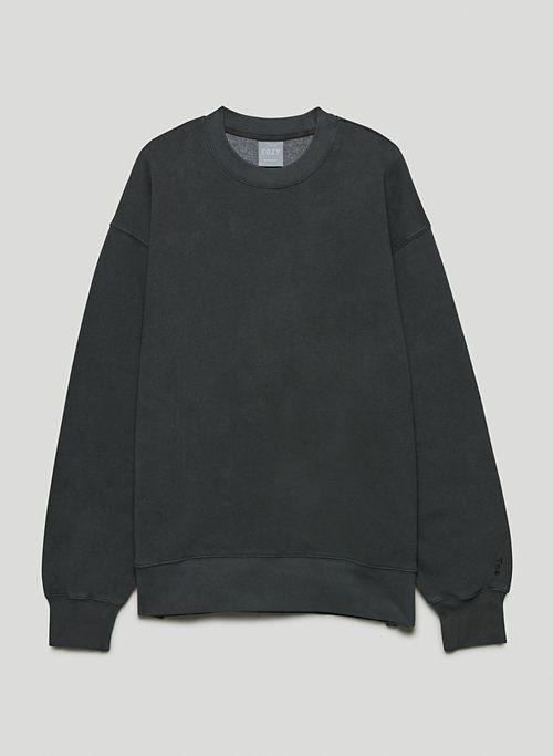 NEW COZY FLEECE BOYFRIEND CREW SWEATSHIRT - Oversized crew-neck sweatshirt