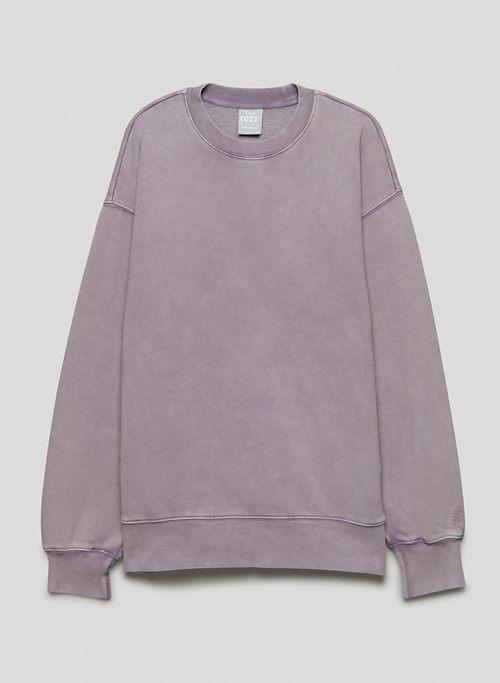 NEW COZY FLEECE BOYFRIEND CREW SWEATSHIRT - Relaxed, crew-neck sweatshirt