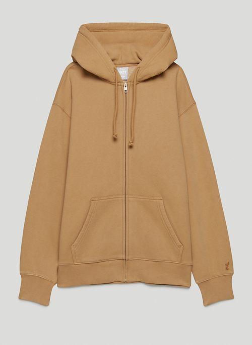 COZY FLEECE BOYFRIEND ZIP HOODIE - Oversized zip-up hoodie