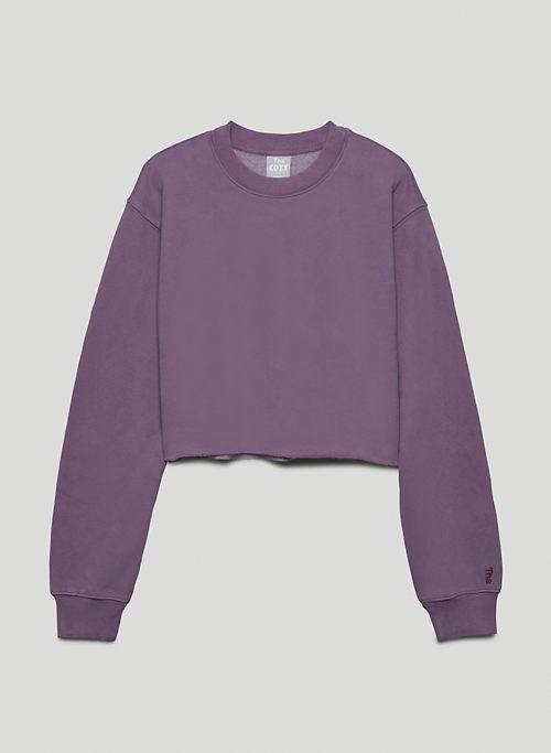COZY FLEECE PERFECT CROPPED SWEATSHIRT - Crew-neck pull-over sweatshirt