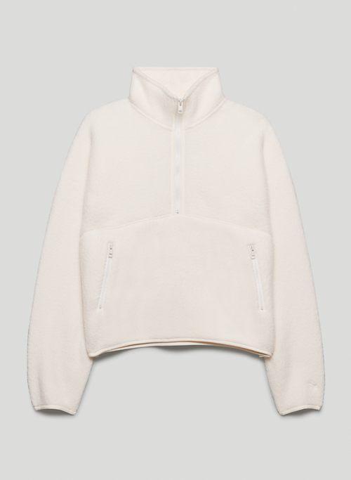 RUSH SWEATER - 1/2 zip mock-neck pullover sweatshirt