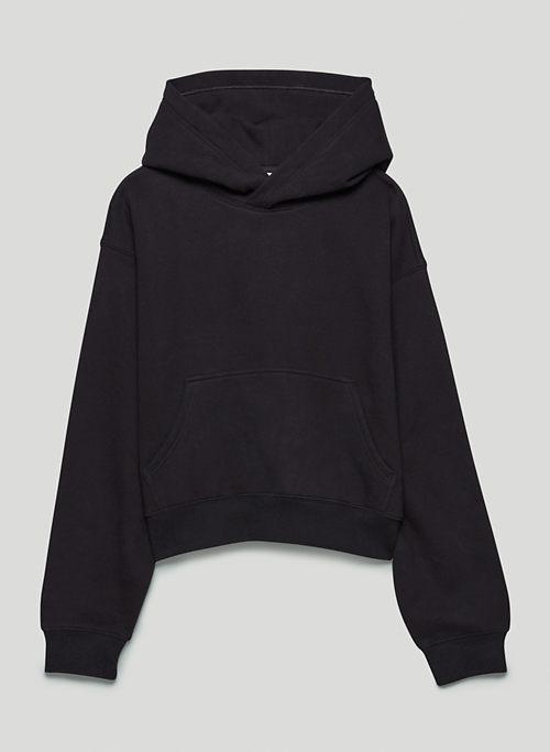 COZY FLEECE BOYFRIEND SHRUNKEN HOODIE - Hooded pull-over sweatshirt