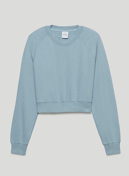 AIRY FLEECE PERFECT RAGLAN SWEATSHIRT - Shrunken-fit sweatshirt