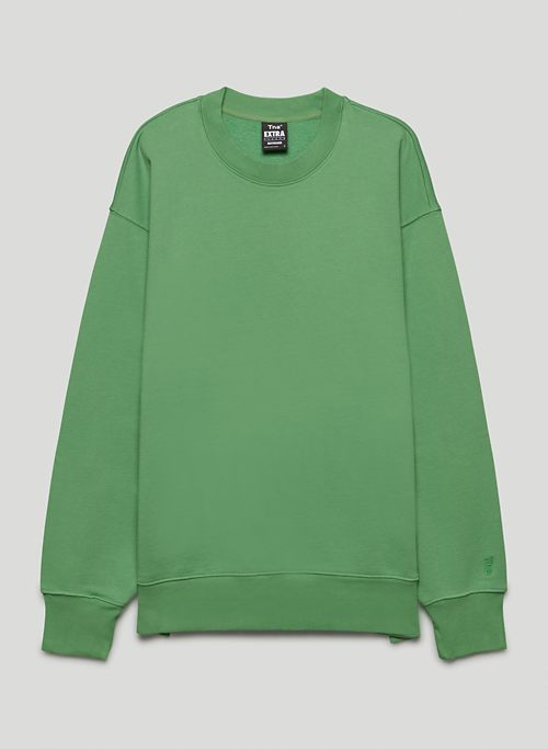 EXTRA FLEECE BOYFRIEND CREW SWEATSHIRT - Organic fleece crew-neck sweatshirt