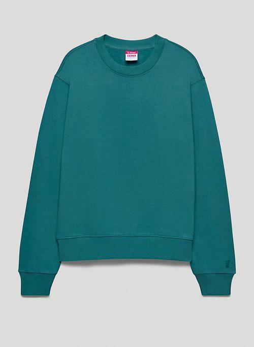 EXTRA FLEECE PERFECT CREW SWEATSHIRT - Crew-neck organic cotton fleece sweatshirt