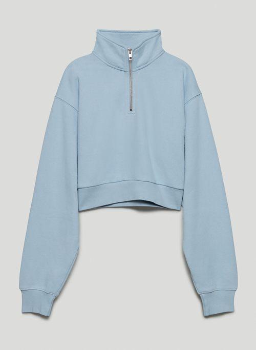 COZY FLEECE PERFECT 1/4 ZIP SWEATSHIRT - 1/4 zip pullover sweatshirt