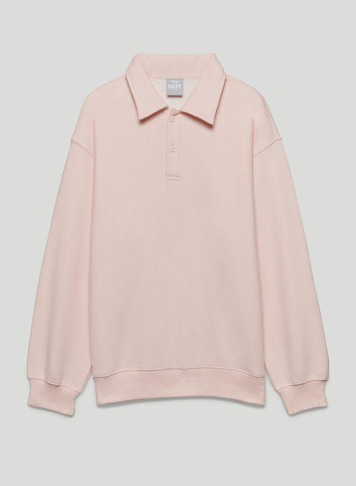 NEW COZY FLEECE BOYFRIEND POLO SWEATSHIRT - Fleece polo sweater