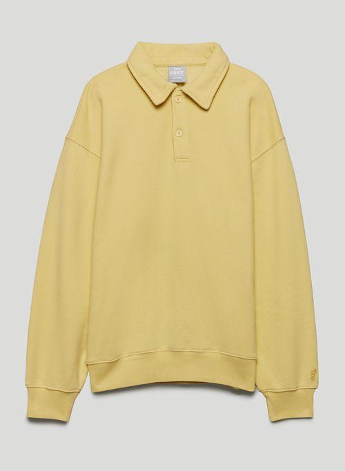 COZY FLEECE BOYFRIEND POLO SWEATSHIRT - Fleece polo sweater