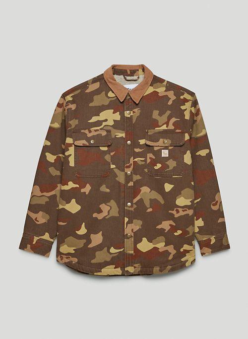 TURNER SHIRT JACKET - Sherpa-lined twill jacket
