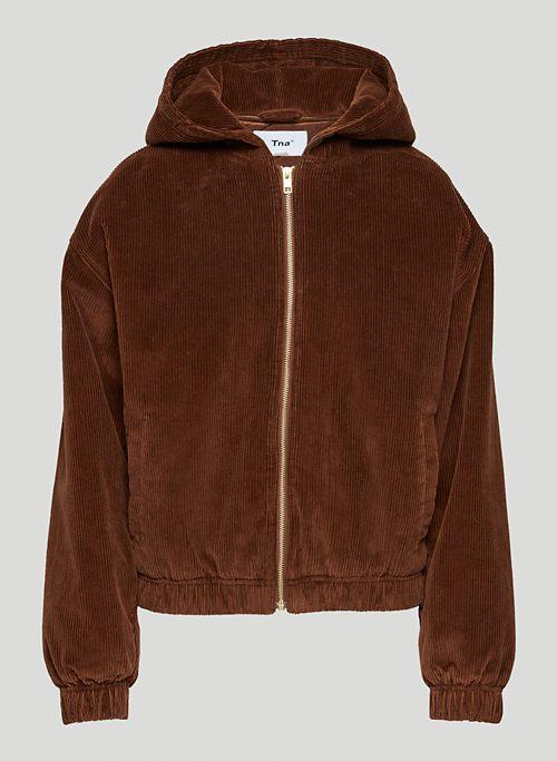 MORRISON ZIP-UP - Corduroy hooded jacket