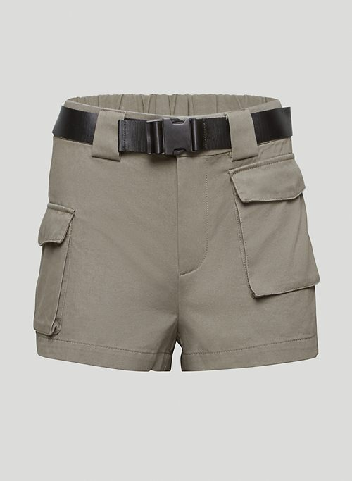 CARGO SHORT - High-waistd, belted cargo shorts