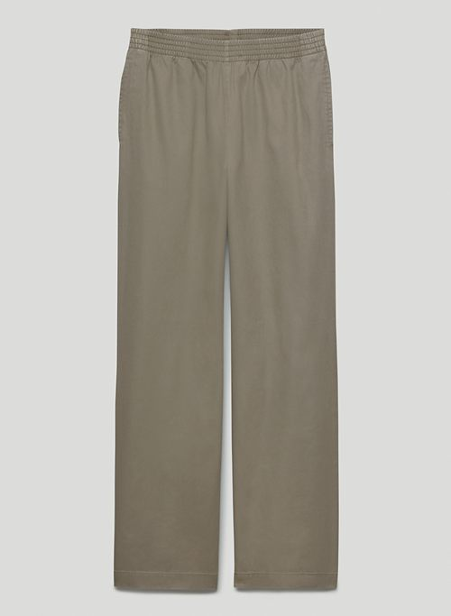 CHRISTIE PANT - Mid-rise cotton twill pants