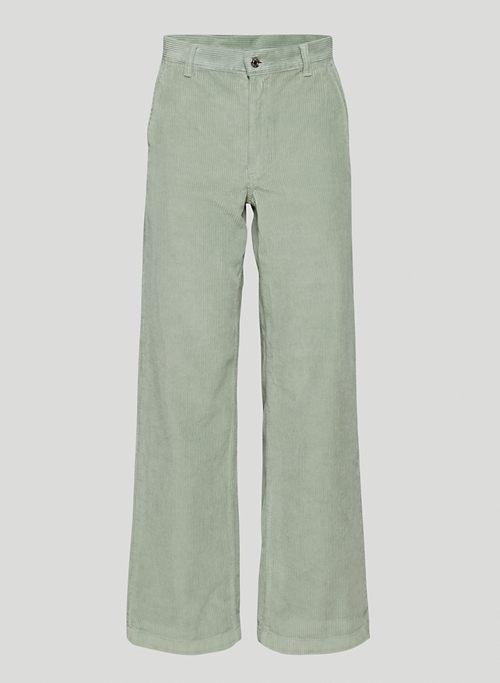 RIPCORD PANT - High-waisted corduroy pants