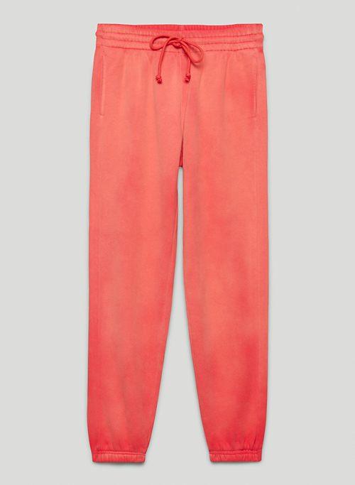 COZY FLEECE BOYFRIEND SWEATPANT - Mid-rise, slim sweatpants