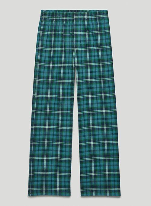 OAKWOOD PANT - Mid-rise organic cotton, flannel pants