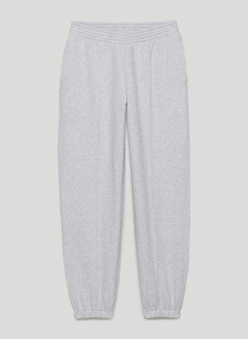 COZY FLEECE MEGA PIPED SWEATPANT - Oversized, mid-rise sweatpants
