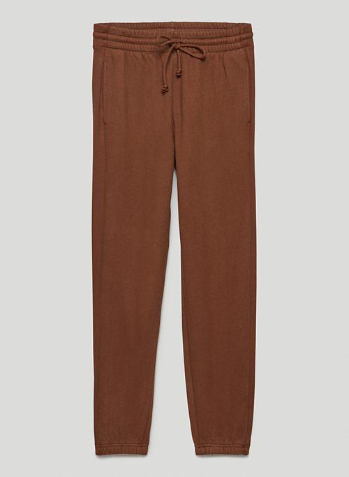 COZY FLEECE BOYFRIEND SWEATPANT - Mid-rise, boyfriend-fit sweatpants