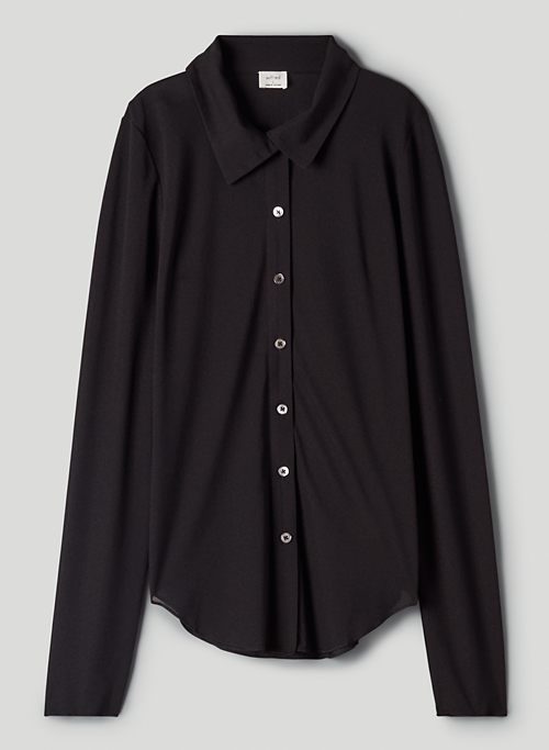 CHARM LONGSLEEVE - Mesh button-up, long-sleeve shirt