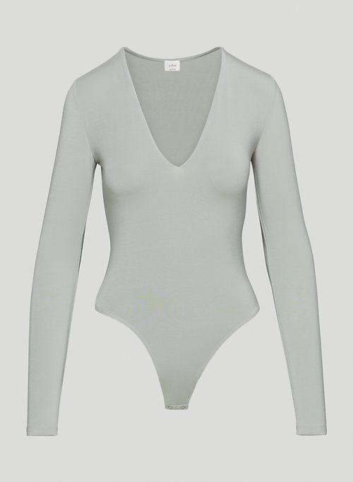 TOULOUSE BODYSUIT - Long-sleeve V-neck bodysuit
