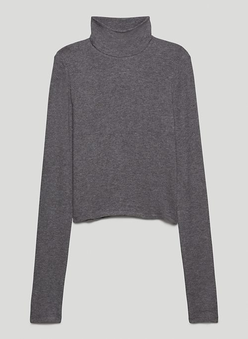 ONLY CROPPED TURTLENECK - Ribbed turtleneck shirt
